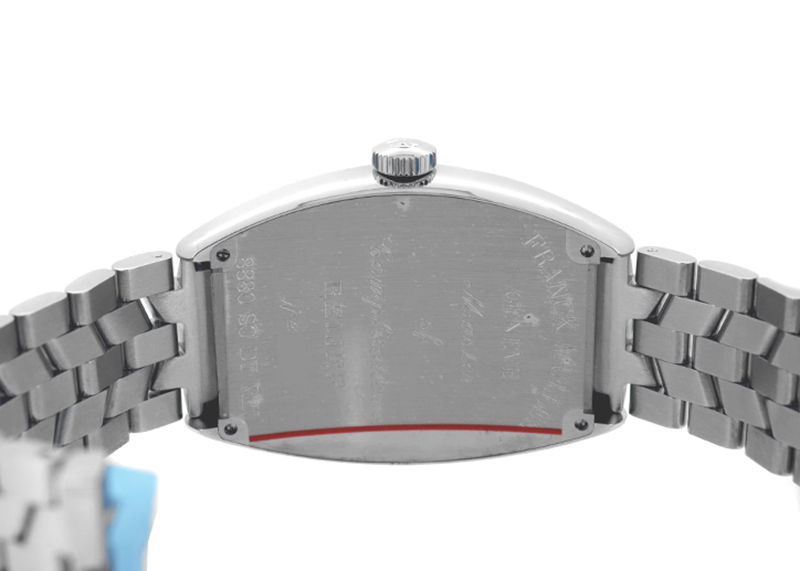 フランクミュラー 8880SCDT RELIEF トノーカーベックス レリーフ SS シルバー文字盤 自動巻き ブレスレット