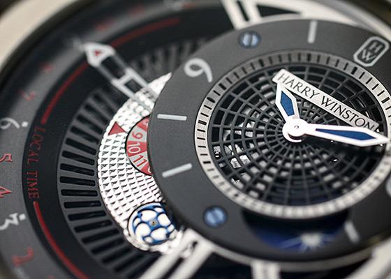【中古】【世界300本限定】 ハリーウィンストン OCEATZ44ZZ009 プロジェクト Z8 ザリウム スケルトン文字盤 自動巻き ラバー