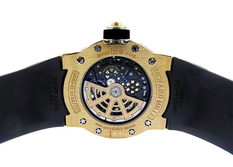 リシャール ミル RM63-01 ディジー・ハンズ RG/TI スケルトン文字盤 自動巻き ラバー