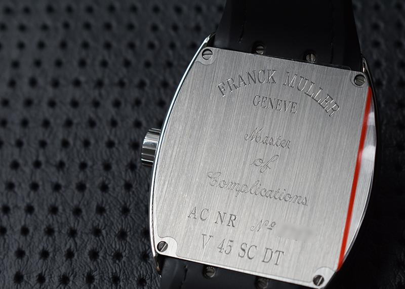 フランクミュラー V45SCDT ヴァンガード デイト SS 黒文字盤 自動巻き クロコダイル/ラバー