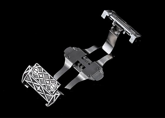 【中古】キンドラー&ソープ W20073X8 サントス100 LM SS 白文字盤 自動巻き レザー [GEOMETRIC]