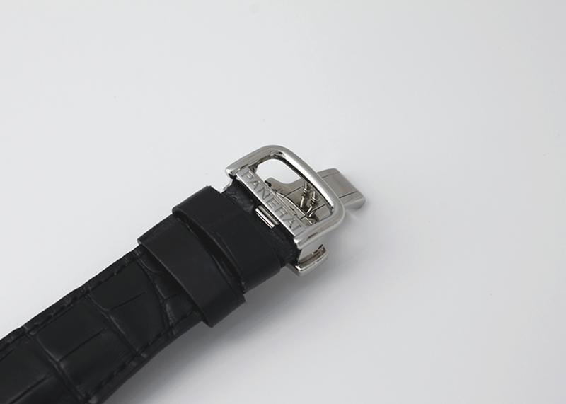 【中古】オフィチーネ パネライ PAM00287 ラジオミール ブラックシール オートマティック SS 黒文字盤 自動巻き レザー