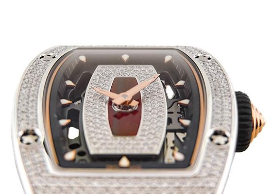 【中古】リシャールミル RM07-01 レディース オートマティック WG スケルトン文字盤 自動巻き ラバー