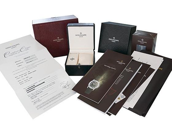 【中古】パテックフィリップ 5065/1A-010 アクアノート ラージサイズ SS 黒文字盤 自動巻き ブレスレット