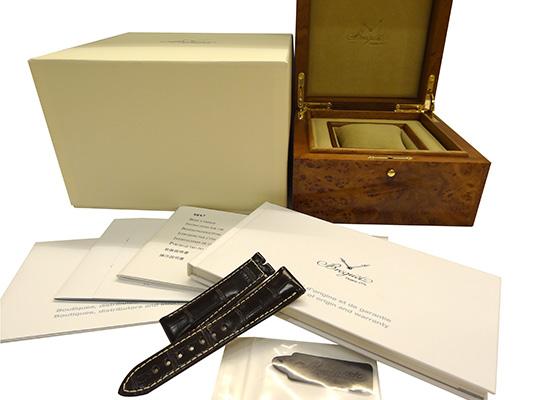 ブレゲ 5857BR/Z2/5ZU マリーンGMT RG 黒文字盤 自動巻き ラバー