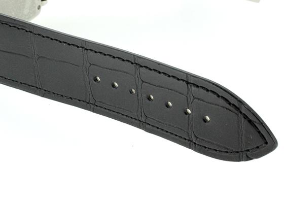 フランク ミュラー 1200SC DT  ロングアイランド デイト SS シルバー文字盤 自動巻き レザー(艶なし)