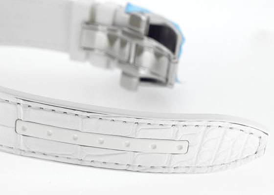 フランクミュラー V45SCDT ヴァンガード デイト SS(ポリッシュ) 白文字盤 自動巻き クロコダイル/ラバー