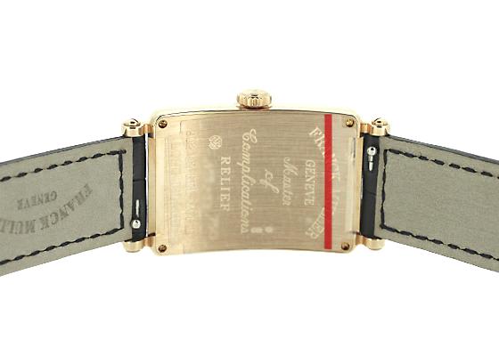 フランクミュラー 902QZ RELIEF レディース ロングアイランド レリーフ PG シルバー文字盤 クォーツ レザー