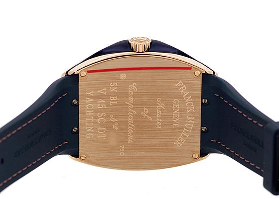 フランクミュラー V45SCDT YACHTING ヴァンガード デイト ヨッティング PG ブルー文字盤 自動巻き ファブリック/ラバー