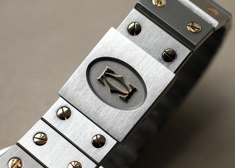 【中古】カルティエ サントス オクタゴン 29mm SS/YG 白文字盤 クォーツ ブレスレット