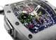 【中古】リシャールミル RM11-02 オートマティック フライバッククロノグラフ デュアルタイムゾーン TI スケルトン文字盤 自動巻き ラバー