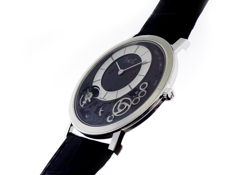 ピアジェ G0A39111 アルティプラノ WG シルバー文字盤 手巻き レザー