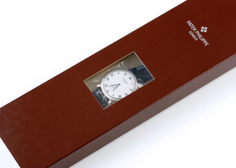 【レストア】パテックフィリップ 3919G-001 カラトラバ WG 白文字盤 手巻き レザー【2003年製】