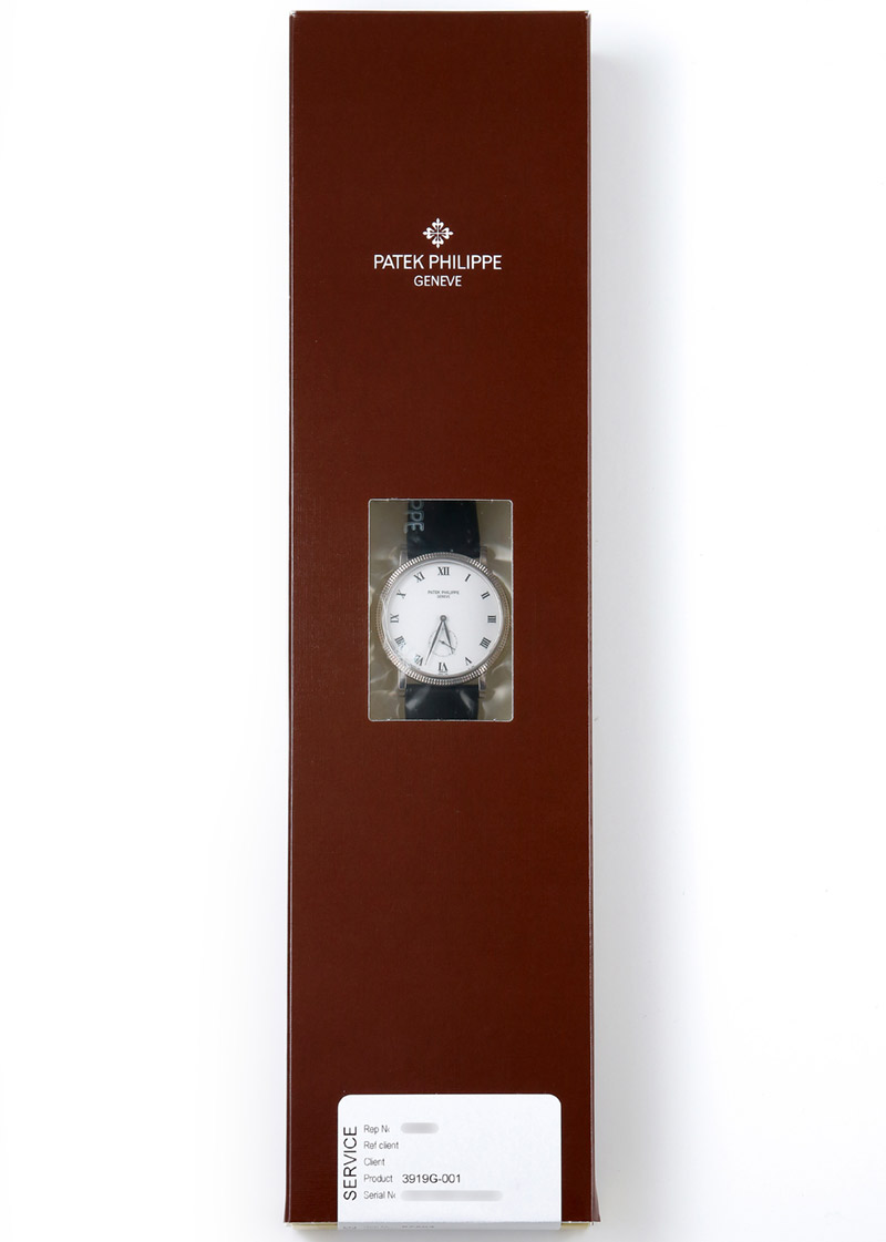 【入荷予定】パテックフィリップ 3919G-001 カラトラバ WG 白文字盤 手巻き レザー【2003年製】