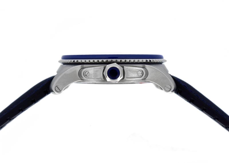 カルティエ WSCA0010 カリブルドゥカルティエ ダイバー SS ブルー文字盤 自動巻 ファブリック/ラバー
