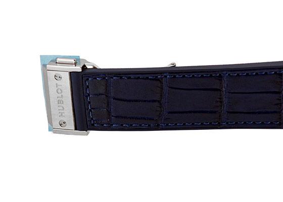 ウブロ 542.NX.7170.LR クラシックフュージョン チタニウム TI ブルー文字盤 自動巻き アリゲーター/ラバー