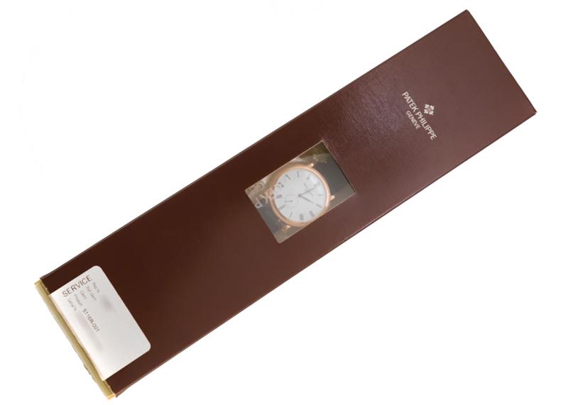 【レストア】パテックフィリップ 5116R-001 カラトラバ RG エナメル文字盤 手巻き レザー