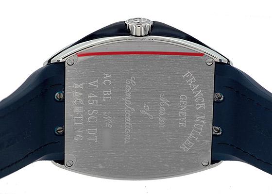 フランクミュラー V45SCDT YACHTING ヴァンガード デイト ヨッティング SS ブルー文字盤 自動巻き ファブリック/ラバー(ブルー)