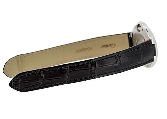 カルティエ W6920085 レディース バロンブルー 33mm SS シルバー文字盤 自動巻き レザー