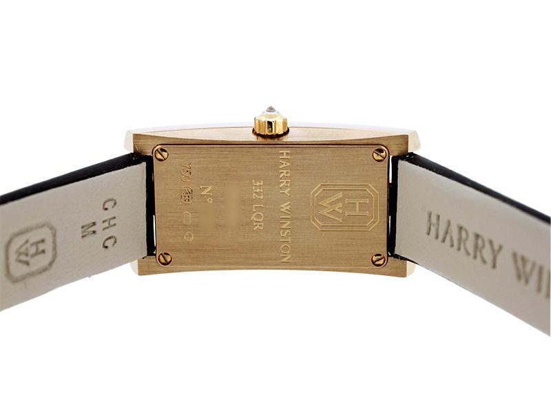 【中古】ハリーウィンストン AVCQHM16RR001 レディース アヴェニューC ミニ RG シルバー文字盤 クォーツ レザー