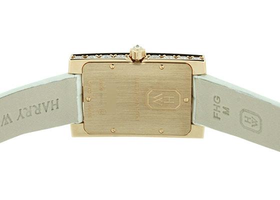 ハリーウィンストン AVEQHM21RR125 レディース アヴェニュー・クラシック オーロラ RG シェル/ダイヤモンド文字盤 クォーツ レザー