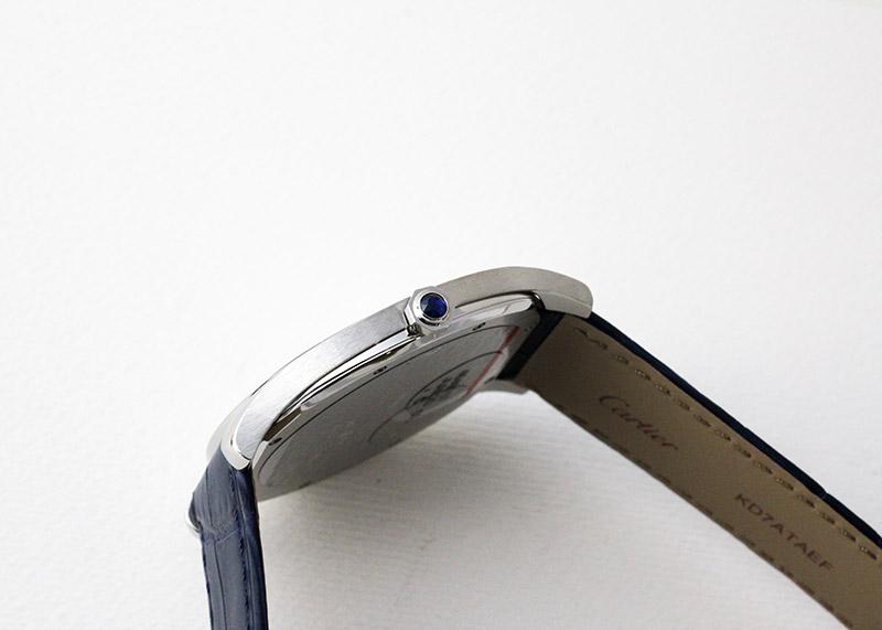 カルティエ WSNM0011 ドライブ ドゥ カルティエ エクストラフラット SS シルバー文字盤 手巻き レザー
