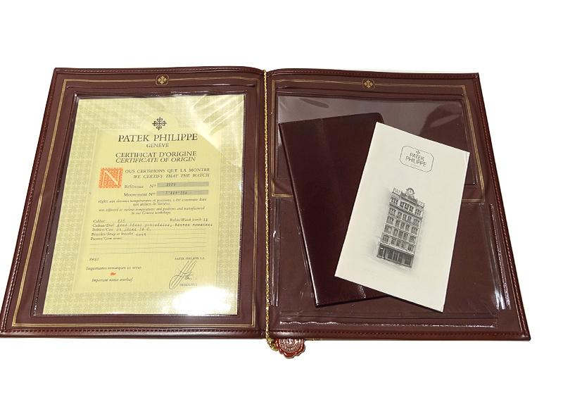 【レストア】パテックフィリップ 3919J-001 カラトラバ YG 白文字盤 手巻き レザー【1992年製】