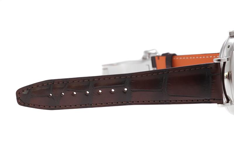 【中古】IWC IW510102 ポートフィノ ハンドワインド 8DAYS SS 黒文字盤 手巻き レザー
