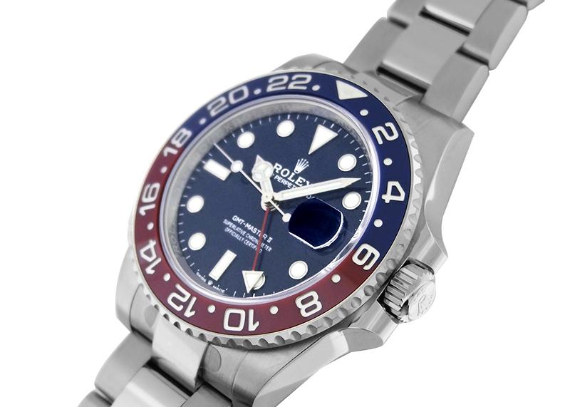 ロレックス 126719BLRO オイスターパーペチュアル GMTマスター� WG ブルー文字盤 自動巻き ブレスレット