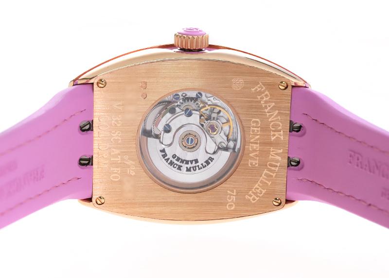 【未使用品】フランクミュラー V32 SC AT FO COL DRM 5N RS ヴァンガード カラードリーム PG シルバー文字盤 自動巻き ラバーアリゲーター【委託品】