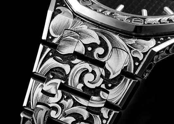 キンドラー&ソープ 67650ST.OO.1261ST.01 レディロイヤルオーク 33mm SS 黒文字盤 クォーツ ブレスレット[MATURITY]