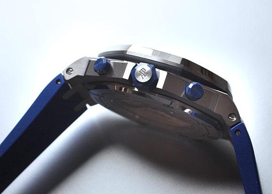 オーデマピゲ 26470ST.OO.A030CA.01 ロイヤルオーク オフショア クロノグラフ SS ブルー文字盤 自動巻き ラバー