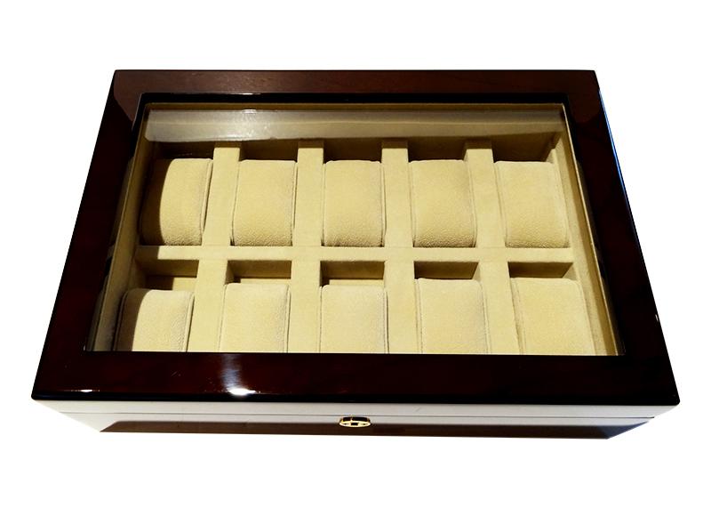 D.D.Allwood WW3013FTBE コレクションボックス 10本用 チーク 窓付き