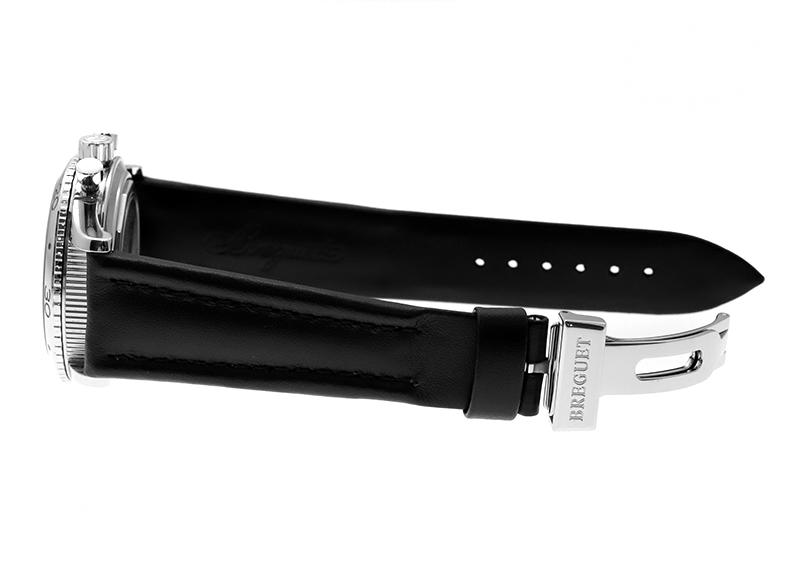 【中古】ブレゲ 3800ST/92/9W6 アエロナバル SS 黒文字盤 自動巻き レザー