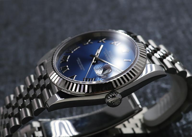 【未使用品】ロレックス126334 オイスターパーペチュアル デイトジャスト 41 WG&SS ブルー文字盤 自動巻き ブレスレット