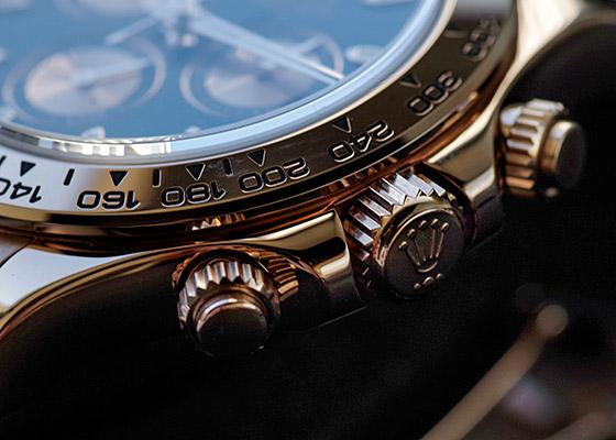 【中古】ロレックス 116505 コスモグラフデイトナ RG 黒/ピンク文字盤 自動巻き ブレスレット