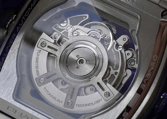 【中古】クストス CVT-SEA-ST チャレンジ シーライナー SS スケルトン文字盤 自動巻き ラバー
