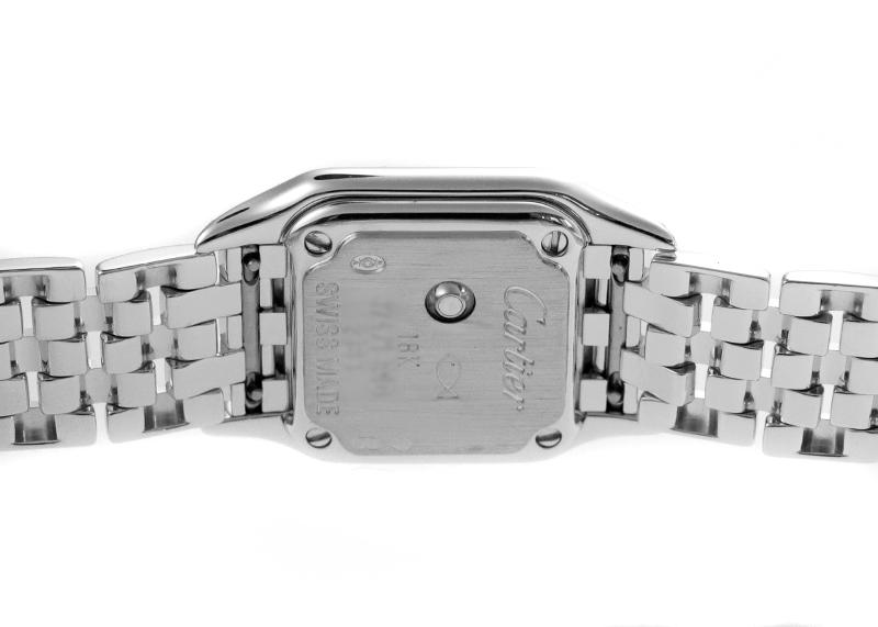 【中古】カルティエ WF3257F3 ミニ パンテール ダイヤモンド WG ピンク文字盤 クォーツ ブレスレット