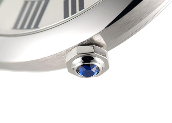 カルティエ WSNM0004 ドライブ ドゥ カルティエ SS シルバー文字盤 自動巻き レザー