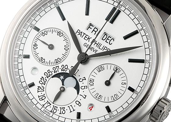 【未使用品】パテックフィリップ 5270G-001 グランドコンプリケーション パーペチュアルカレンダー クロノグラフ WG シルバー文字盤 手巻き レザー