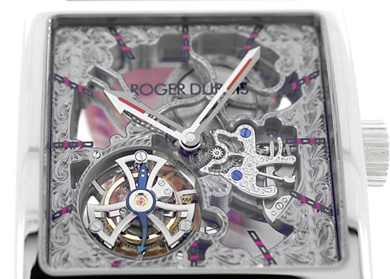 【中古】ロジェデュブイ G40 02SQ 7 V.10A7 ゴールデンスクエア フライングトゥールビヨン TI スケルトン文字盤 自動巻き レザー