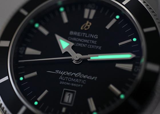 ブライトリング A172B68OCA(A17320) スーパーオーシャン ヘリテージ46 SS 黒文字盤 自動巻き ブレスレット