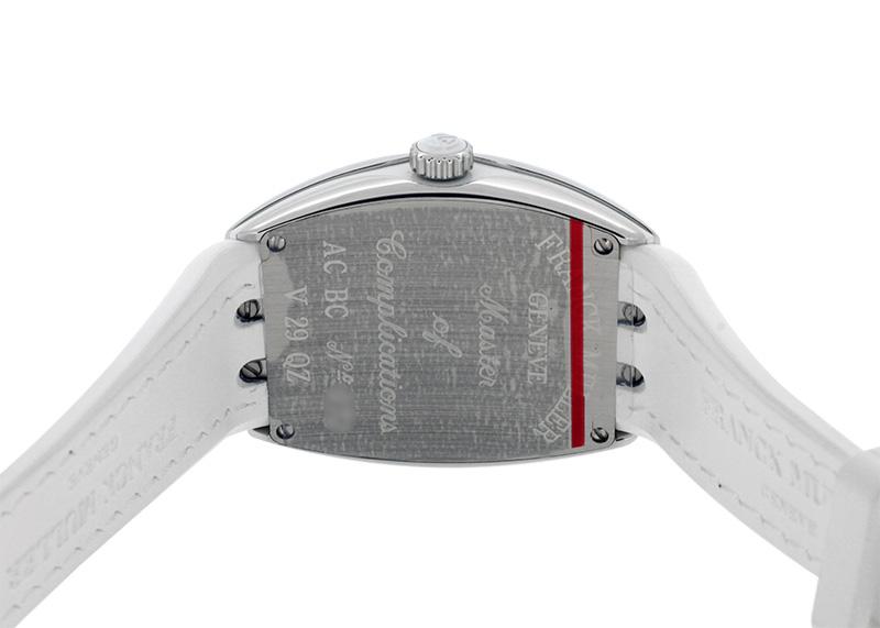 フランクミュラー V29QZ レディース ヴァンガード SS シルバー文字盤 クォーツ クロコダイル/ラバー