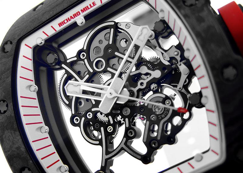 【日本50本限定】リシャール ミル RM055 ジャパンレッド カーボン スケルトン文字盤 手巻き ラバー