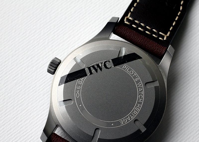 IWC IW327006 パイロットウォッチ マークXVIII TI 黒文字盤 自動巻き レザー