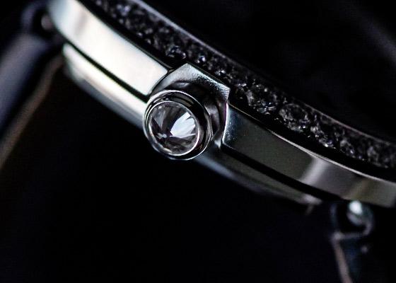 カルティエ WB520027 レディース ミニベニュワール ダイヤモンドベゼル WG シルバー文字盤 クォーツ トワル