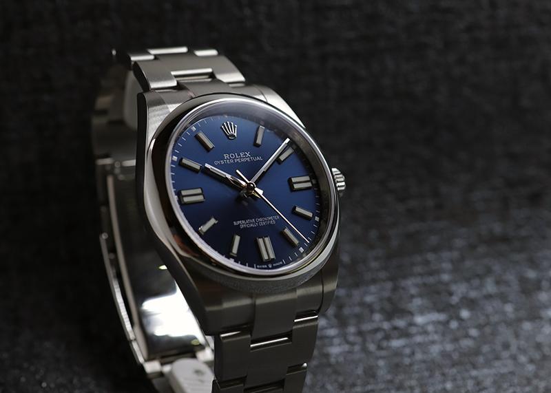【未使用品】ロレックス124300 オイスターパーペチュアル 41 SS ブルー文字盤 自動巻き ブレスレット