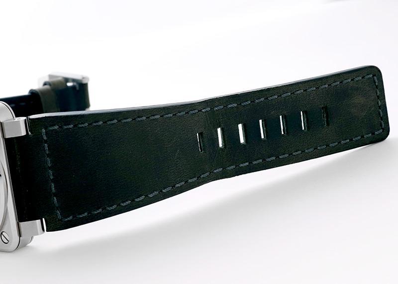 【中古】ベル&ロス BR0392-GC3-ST/SCA BR03-92 GREY LUM SS グレー文字盤 自動巻き レザー