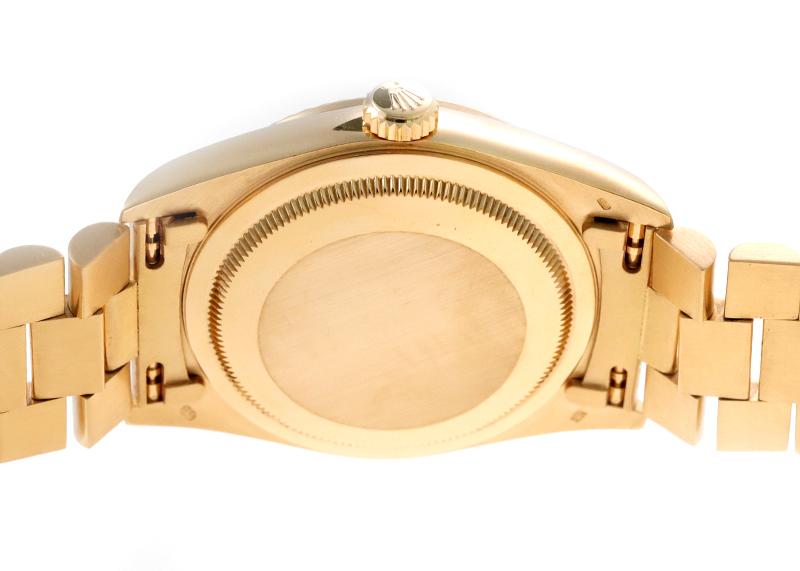 【中古】ロレックス 18238A オイスター パーペチュアル デイデイト YG 黒文字盤 自動巻き ブレスレット