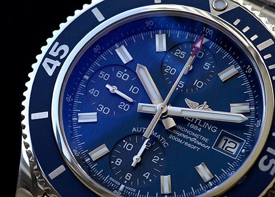 【未使用品】ブライトリング A108C71PSS スーパーオーシャン クロノグラフ42 SS ブルー文字盤 自動巻き ブレスレット